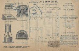 Facture-usine à Gaz De Cette Et Frontignan-1909 - Elektriciteit En Gas