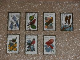 Pin's Timbre Poste USA - Oiseaux - Sets