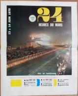 24 Heures Du Mans 1970.Affichette A.C.O. - Publicités
