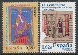 ESPAÑA 2009 - EFEMERIDES - IX Centenario De La Muerte Del Rey Alfonso VI - IX Centenario De Santo Domingo Edifil 4487-88 - 2001-10 Neufs