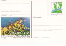 ALLEMAGNE : 1995 -  Entier Postal Neuf -  Centenaire Nord-Ostsee-Kanal - Hansephil'95 - [7] República Federal