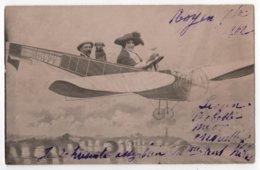 JFDON Carte Photo ROYAN Montage Surréalisme Famille Chien Dans Un Avion - Royan