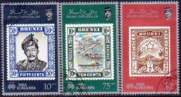 BRUNEI 1984 SG 353-55 Compl.set Used Philakorea - Brunei (1984-...)