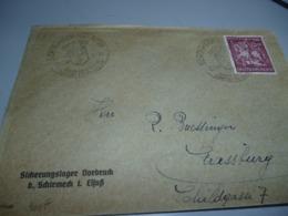 TRES RARE ENVELOPPE AYANT CIRCULEE  9/10/44 DU CAMP SICHERUNGSLAGER DORBRUCK B. SCHRMECK EN ALSACE - 1939-45