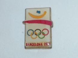 Pin's JEUX OLYMPIQUE DE BARCELONE, 1992, Rectangulaire - Jeux Olympiques