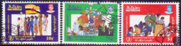 BRUNEI 1985 SG 362-64 Compl.set Used Int. Youth Year - Brunei (1984-...)