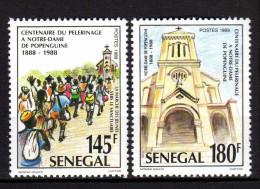 Sénégal N° 840 / 41  XX  Centenaire Du Pélerinage à Notre Dame De Popenguine, Les 2 Valeurs Sans Charnière, TB - Senegal (1960-...)