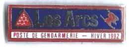 ALBERTVILLE 92 - JO16 - LES ARCS - POSTE DE GENDARMERIE - HIVER 1992 - Verso : ALPES TROPHEES - Jeux Olympiques