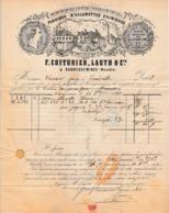1862 - SARREGUEMINES - ALLUMETTES CHIMIQUES - F. COUTURIER, LAUTH & Cie - Documents Historiques