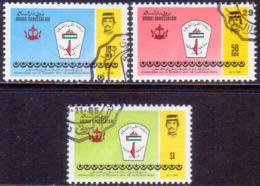 BRUNEI 1985 SG 365-67 Compl.set Used Int. Palestinian Solidarity - Brunei (1984-...)