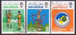 BRUNEI 1985 SG 368-70 Compl.set Used National Scout Jamboree - Brunei (1984-...)