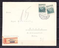 EX-PR-19-09-34  R- LETTER FROM LIBEREC, CZECHOSLOVAKIA TO LWOW (!!) POLAND. - 1919-1939 Republic