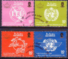 BRUNEI 1986 SG 383-86 Compl.set Used Admission In World Organizations (2nd Series) - Brunei (1984-...)