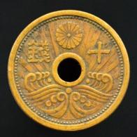 Japan 10 Sen (銭 十) 1938-40. Coin Random Ages. Y58 - Japón