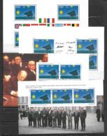 Irlande 1992 N°813 4 Feuillets Issus Du Carnet Oblitérés. Marché Unique Européen - Blocchi & Foglietti