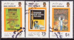 BRUNEI 1987 SG 401-403 Compl.set Used Nat. Anti-Drug Campaign - Brunei (1984-...)