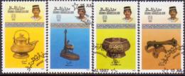 BRUNEI 1987 SG 404-407 Compl.set Used Brassware (1st Series) - Brunei (1984-...)