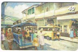Polynesie Francaise Tahiti Telecarte Phonecard Prepaid PF139 Trucks Camions Bus Autocar Vehicule Ut BE - Polynésie Française