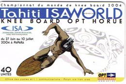 Polynesie Francaise Tahiti Telecarte Phonecard Prepaid PF146 Isaworld Knee Board Opt Horue Fun Board Ut BE - Französisch-Polynesien