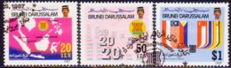 BRUNEI 1987 SG 408-410 Compl.set Used 20th Anniv Of ASEAN - Brunei (1984-...)