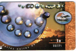 Polynesie Francaise Tahiti Telecarte Phonecard Prepaid PF7 Perles Noires Coucher Soleil Maison Lagon Ut BE - Frans-Polynesië
