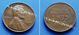 UNITED STATES USA 1 Cent ONE CENT 1947 - LINCOLN - 1909-1958: Lincoln, Wheat Ears Reverse