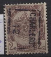PREOS Roulette - CHARLEROI 1912 Sans Bandelette (position B). Cat 1781 Cote 750 - Roulettes 1910-19