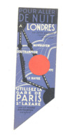 Marque-pages - Ferries, Train, Voyages : Paris Southampton Londres Et Paris Dieppe Newhaven Londres (b260/2) - Marque-Pages