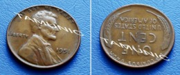 UNITED STATES USA 1 Cent ONE CENT 1951 - LINCOLN - 1909-1958: Lincoln, Wheat Ears Reverse