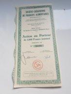 CHERIFIENNE DE PRODUITS ALIMENTAIRES (1950) MARRAKECH-MAROC - Aandelen