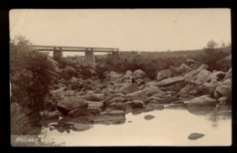 C2125 SOUTH AFRICA - KROONSTAD - RAILWAY BRIDGE PHOTOGRAPHIC POSTCARD 1909 - Sud Africa