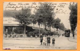 Bonneuil Sur Marne Tram 1918 Postcard - Bonneuil Sur Marne