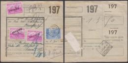 """BELGIQUE COB 771OBL ANVAING 28/02/1950+770 X3 ANNULE GRIFFE """"ANVAING"""" SUR BORD DE CHEMIN DE FER (DD) DC-4115 - 1948 Export"""