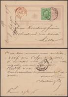BELGIQUE EP 5C+ COB 30 OBLITERATION CENTRALE DE TOURNAI 02/09/1876 VERS LILLE (DD) DC-4125 - 1869-1883 Leopold II