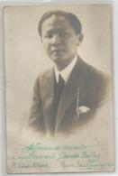 Carte Photo Levan Khanh Asiatique Du Viet Nam , Cambodge ? Pour Claude Balley Lyon 1924 - Postcards