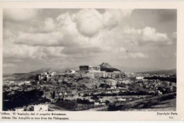 Athens - The Acropolis Ns Seen From The Philopappus - Formato Piccolo Non Viaggiata – E 13 - Cartoline