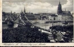 Frankfurta M. Eiserner Stegund Mainkai - Formato Piccolo Viaggiata Mancante Di Affrancatura – E 13 - Cartoline