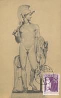 D38334 CARTE MAXIMUM CARD 1949 DENMARK - JASON SCULPTURE BY THORVALDSEN CP ORIGINAL - Scultura