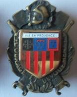 INSIGNE POMPIERS  AIX EN PROVENCE - Firemen