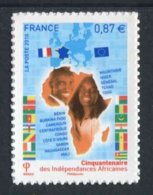 "TIMBRE** De 2010 Autoadhésif  ""0,87 € - CINQUANTENAIRE DES INDEPENDANCES AFRICAINES"" - Autoadesivi"
