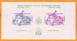ITALIA - 1976 - Boy Scouts Girl Scouts D'Italia - Arezzo 1o Festival Nazionale GEI Di Espressione - Teatro Petrarca - Movimiento Scout