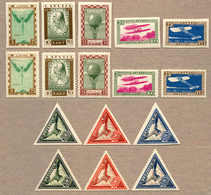 * 1932, 2 Complete Sets In Both Variants A And B (perf. And Imperf.), Air Charity And Air Charity - Pioneers Of Aviation - Letland
