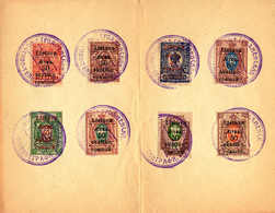 O/cover 1919, 50 S On 3 K., - 50 S. On 70 K., Set Of (8), Only SG 1 Missing, Russian Occupation Stamps With Opt 1 Issued - Litouwen