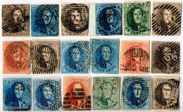 O 1849-58, Lot Of Imperforated Issues (18), Margins Ample To Touching, VF!. Estimate 900€. - Zonder Classificatie