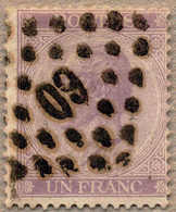 O 1865/67, 1 Fr., Violet, With Rhombic Numeric (60) Cancel, P 14, VF!. Estimate 140€. - Zonder Classificatie