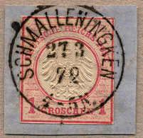O/piece 1872, 1 Gr., Rosa, Ganzsachenausschnitt (aus U1) Auf Briefstück Mit Luxusentwertung SCHMALLENINGKEN, XF!. Estima - Zonder Classificatie