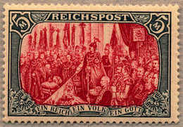 * 1900, 5 M., Grünschwarz/bräunlichkarmin, Type IV - Nachmalung Mit Rot Und Deckweiß, Ungebraucht Ohne Falz, VF!. Estima - Zonder Classificatie