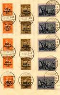 O 1923, 5 M + 100 M - 20 M + 1000 M, 5 Komplette Sätze Insg. (15), Gestempelt Freiburg, Auf Einem Großen Briefstück, VF! - Zonder Classificatie