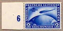** 1930, 2 RM, Ultramarin, Südamerika Fahrt, Stehendes Wasserzeichen X, Linkes Randstück, Postfrisch, Attest Stastny, XF - Zonder Classificatie