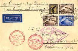 O/cover 1930, 3 M + 2 RM + 4 RM (2), Zeppelinbrief Von Südamerikafahrt 1930, Von FRIEDRICHSHAFEN Nach MÜNCHEN, Mit Ank - Zonder Classificatie